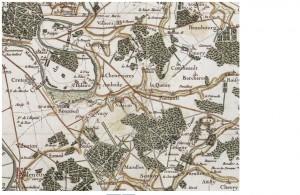 Saint Maur - Carte de Cassini