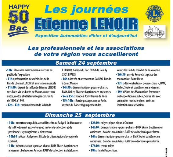 Journées Etienne Lenoir
