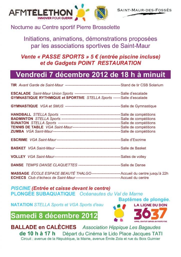 Téléthon 2012 à Brossolette
